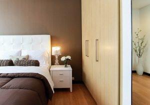 Sypialnia w brązach