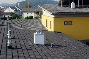 Dach bloku mieszkalnego